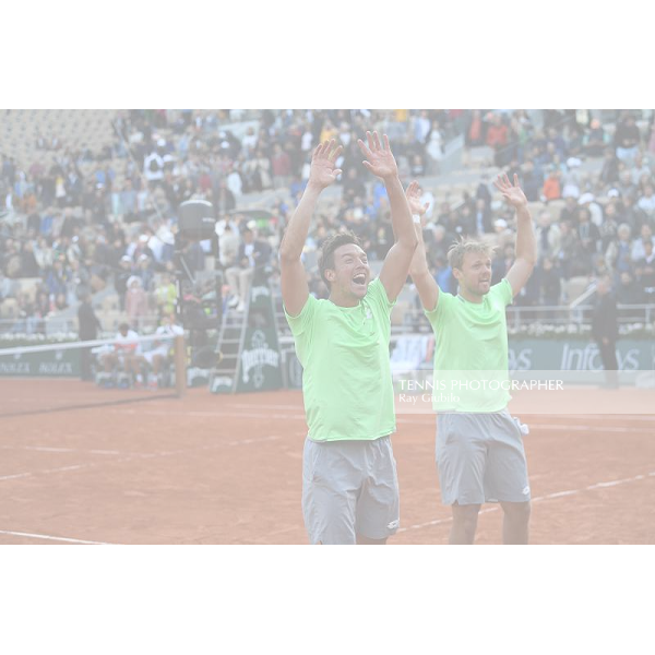 Roland Garros 2019 Men Doubles champions Kevin Krawietz (GER) /Andreas Mies (GER) Photo© Ray Giubilo