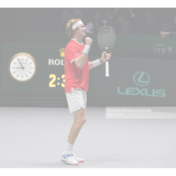 2019 DAVIS CUP FINALS by Rakuten Andrey Rublev (RUS) Photo © Ray Giubilo 2019