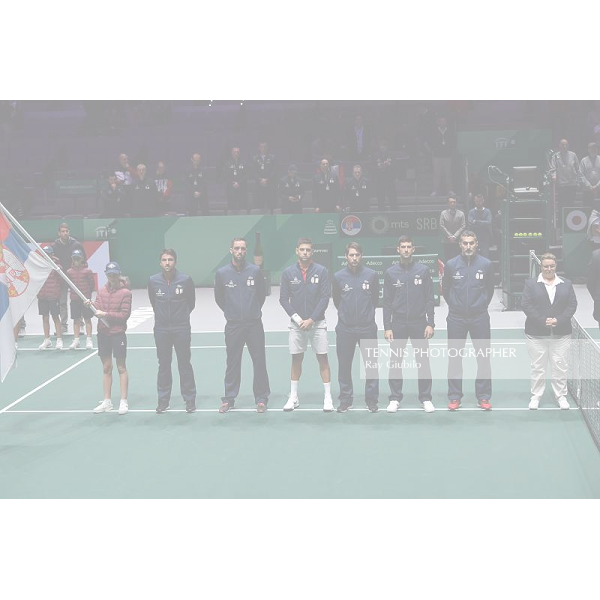 2019 DAVIS CUP FINALS by Rakuten SERBIA vs JAPAN Photo © Ray Giubilo 2019