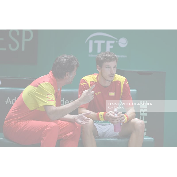2019 DAVIS CUP FINALS by Rakuten Quarterfinal SPAIN vs ARGENTINA Photo © Ray Giubilo 2019
