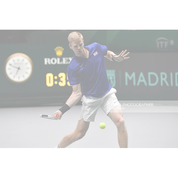 2019 DAVIS CUP FINALS by Rakuten SEMIFINAL SPAIN vs GREAT BRITAIN Kyle Edmund (GBR) Photo © Ray Giubilo 2019